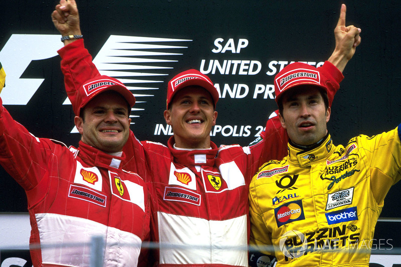 2000 : 1. Michael Schumacher, 2. Rubens Barrichello, 3. Heinz-Harald Frentzen