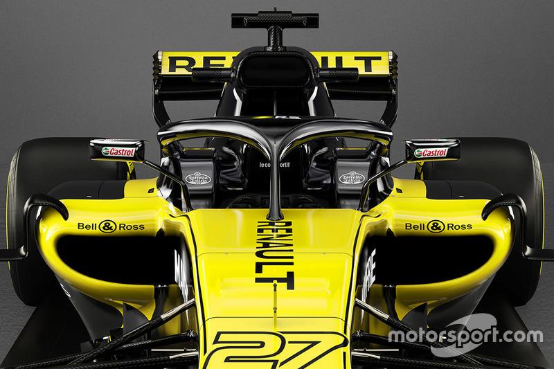 Detalle del Halo del Renault F1 Team RS18