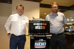 Team owner Richard Childress, Richard Childress Racing met Chip Wile, President Daytona Internationa