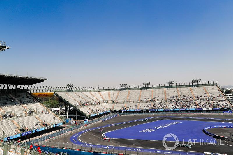 Mitch Evans, Jaguar Racing, Felix Rosenqvist, Mahindra Racing, Sam Bird, DS Virgin Racing