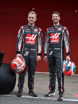 Kevin Magnussen, Haas F1 Team and Romain Grosjean, Haas F1 Team