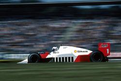 Alain Prost, McLaren MP4/2C, ohne Benzin