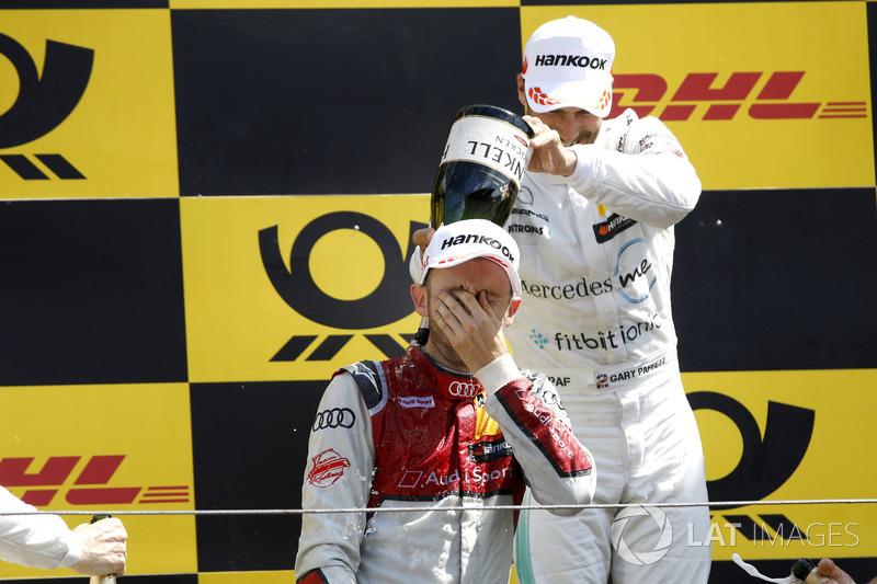 Подіум: Рене Раст, Audi Sport Team Rosberg, друге місце Гері Паффетт, Mercedes-AMG Team HWA