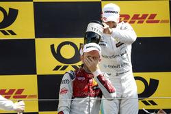Podium: winnaar René Rast, Audi Sport Team Rosberg, nummer twee Gary Paffett, Mercedes-AMG Team HWA