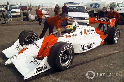 Les essais d'Ayrton Senna chez Penske