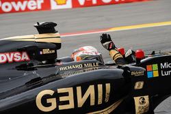 Third place Romain Grosjean, Lotus F1 E23