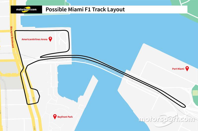 Проект трассы Ф1 в Майами