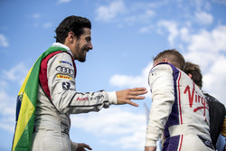 Lucas di Grassi, Audi Sport ABT Schaeffler, Sam Bird, DS Virgin Racing, celebrate on the podium