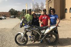 Alberto, Esther, Julio y Julián Merino en Merzouga