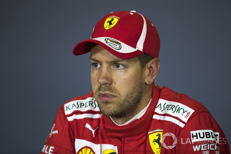 Sebastian Vettel, Ferrari en conférence de presse