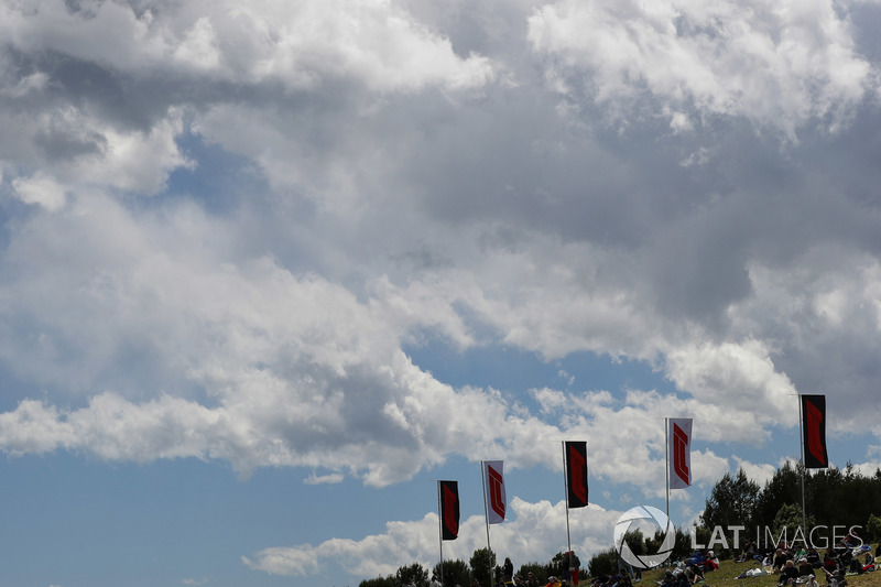 F1 flags fly around the circuit