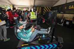 Antonio Felix da Costa, equipo Andretti Formula E, Jose Maria Lopez, Dragon Racing, en la zona de juego