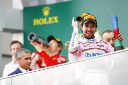 Tercero, Sergio Perez, Force India, celebra