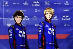 Versions manga de Pierre Gasly, Scuderia Toro Rosso et Brendon Hartley, Scuderia Toro Rosso
