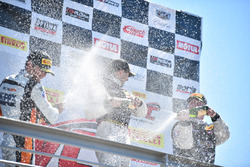 Podium GT: winner Michael Cooper, Cadillac Racing, second place Alvaro Parente, K-Pax Racing, third place Johnny O'Connell, Cadillac Racing