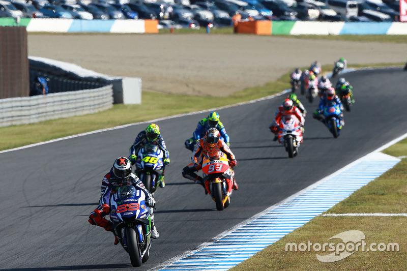 Jorge Lorenzo, Yamaha Factory Racing; Marc Marquez, Repsol Honda Team; Valentino Rossi, Yamaha Factory Racing