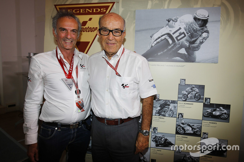 Carmelo Ezpeleta, CEO Dorna Sports, Franco Uncini, FIM Grand Prix Safety Officer