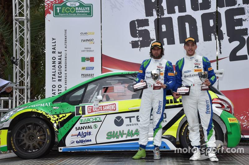 Secondo posto, Alessandro Perico e Mauro Turati, Peugeot 208 T16 R5, P.A. Racing