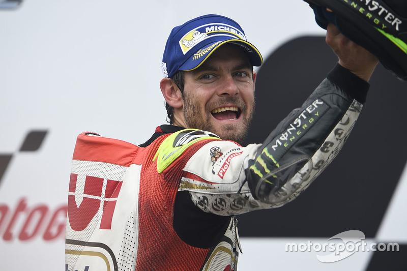 Podio: il vincitore della gara Cal Crutchlow, Team LCR Honda