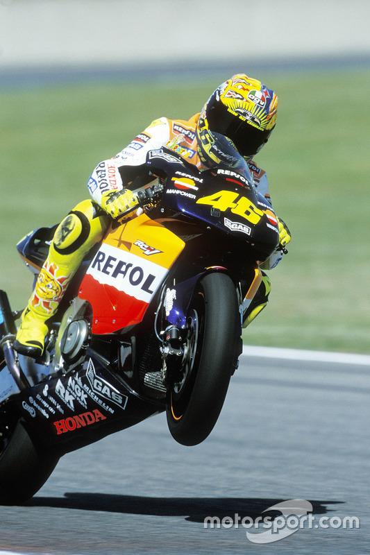 Valentino Rossi, Honda Team, vainqueur de la course