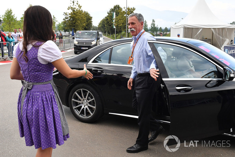 Chase Carey, Chief Executive Officer and Executive Chairman of the Formula One Group arrives