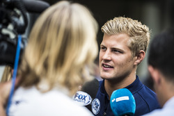 Marcus Ericsson, Sauber talks to the media