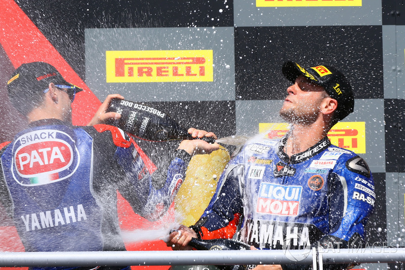 Podium : Federico Caricasulo, GRT Yamaha Official WorldSSP Team, Sandro Cortese, Kallio Racing