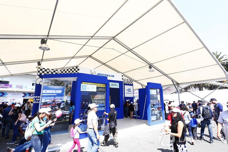 Michelin display in the fan village