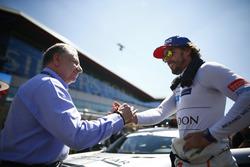 جان تود، رئيس الاتّحاد الدولي للسيارات وفرناندو ألونسو، مكلارين