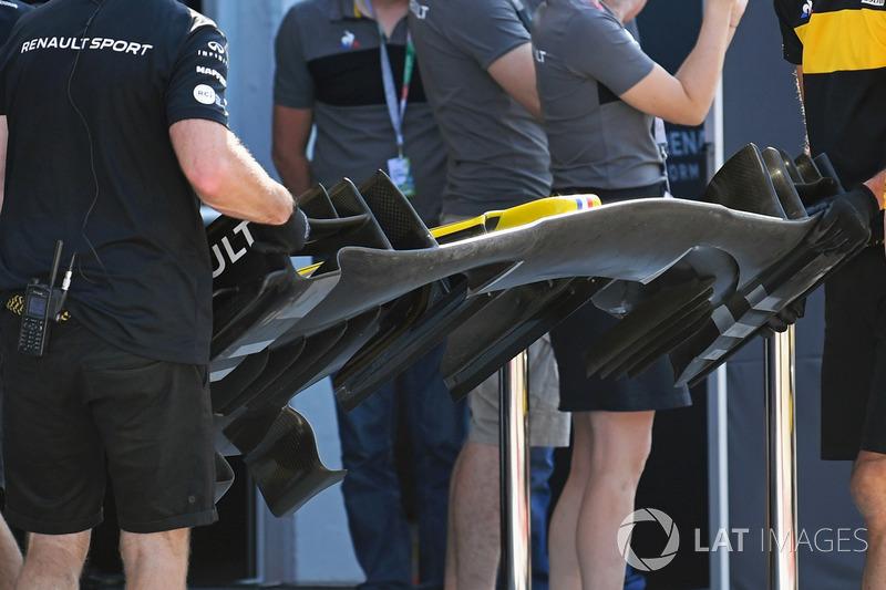 Alerón delantero del Renault Sport F1 Team