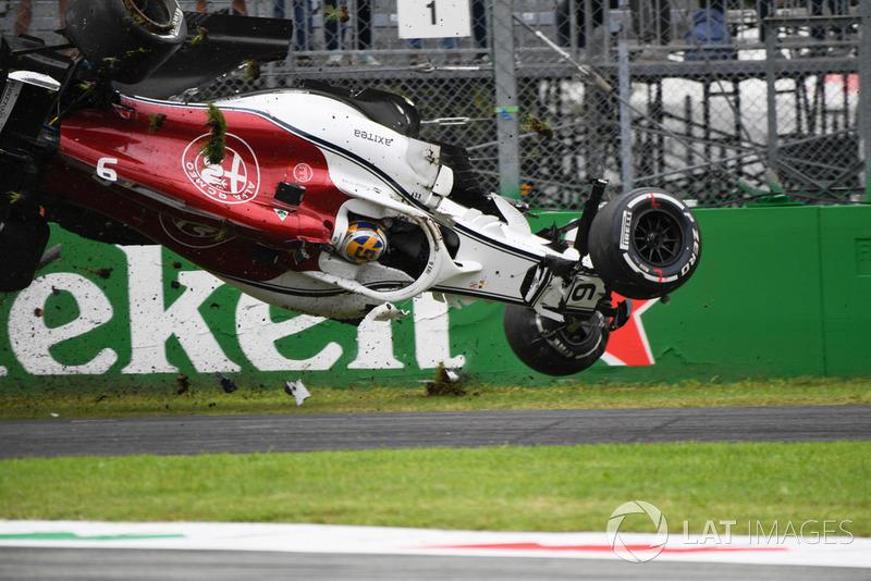 Choque de Marcus Ericsson, Sauber C37