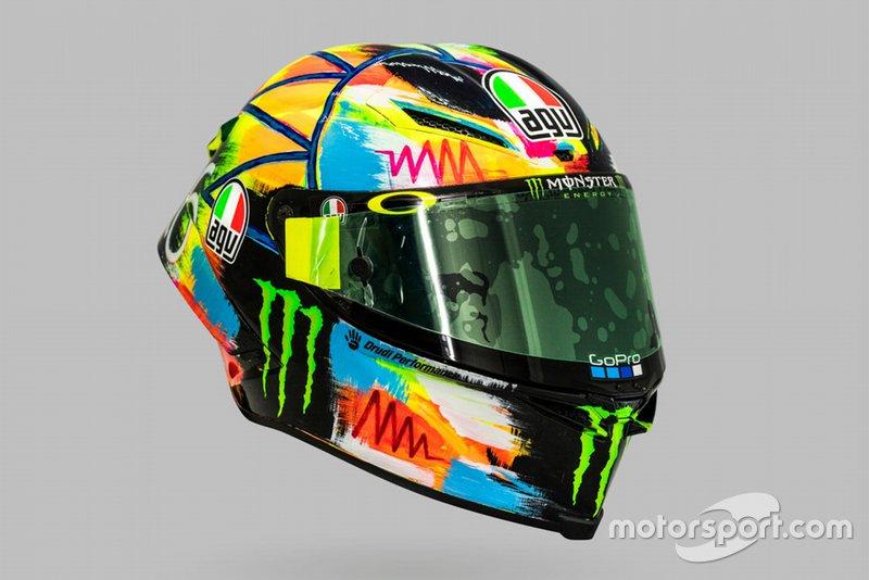 Шолом Валентино Россі, Yamaha Factory Racing, для зимових тестів MotoGP