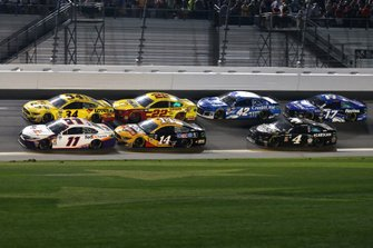 Denny Hamlin, Joe Gibbs Racing, Toyota Camry FedEx Express, Michael McDowell, Front Row Motorsports, Ford Mustang Love's Travel Stops, Clint Bowyer, Stewart-Haas Racing, Ford Mustang Rush Truck Centers/Mobil 1, Joey Logano, Team Penske, Ford Mustang Shell Pennzoil, Kyle Larson, Chip Ganassi Racing, Chevrolet Camaro Credit One Bank, Kevin Harvick, Stewart-Haas Racing, Ford Mustang Busch Beer Car2Can, Ricky Stenhouse Jr., Roush Fenway Racing, Ford Mustang Fastenal