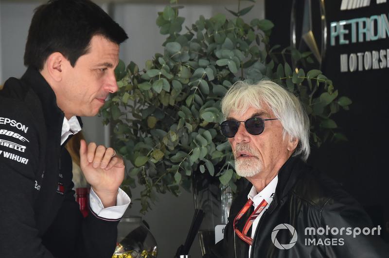 Керівник Mercedes AMG F1 Тото Вольфф, Берні Екклстоун