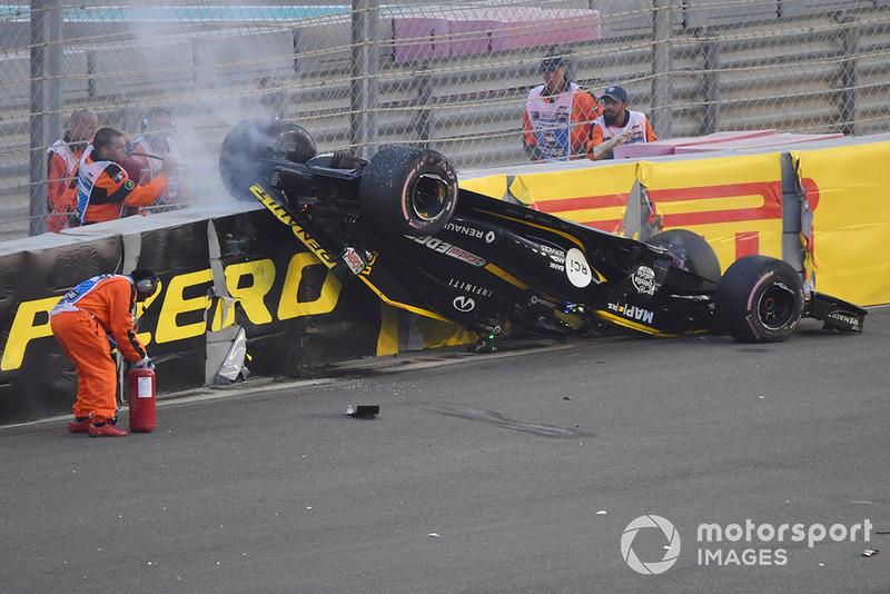 Ніко Хюлькенберга, Renault Sport F1 Team R.S. 18, після аварії