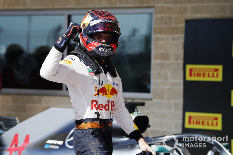Max Verstappen, Red Bull Racing, fête sa deuxième position