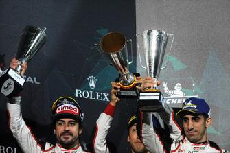 Second place overall #8 Toyota Gazoo Racing Toyota TS050: Sebastien Buemi, Kazuki Nakajima, Fernando Alonso