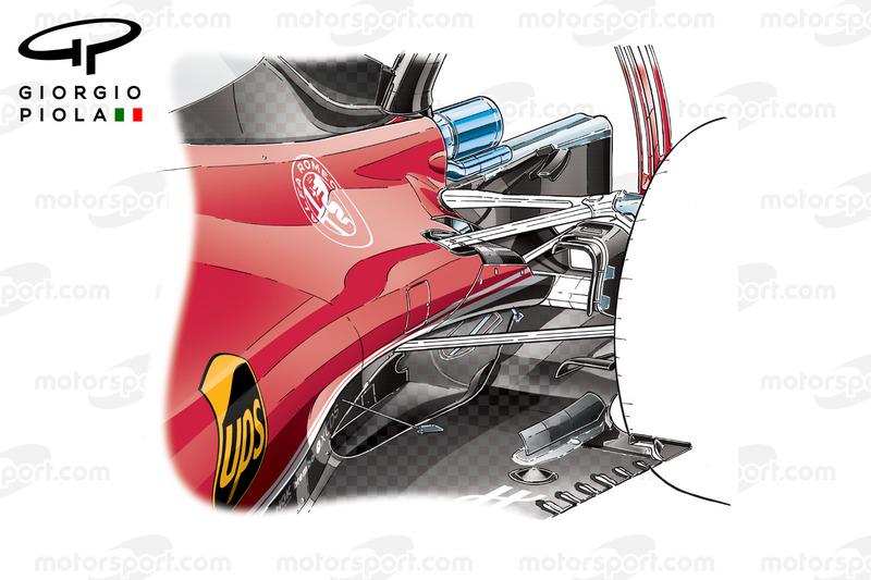 Ferrari SF16H: Seitenkästen in Kanada