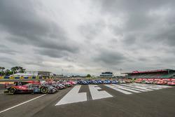 Gruppenfoto: Alle Oreca-Autos der LMP2-Klasse für die 24h Le Mans 2017