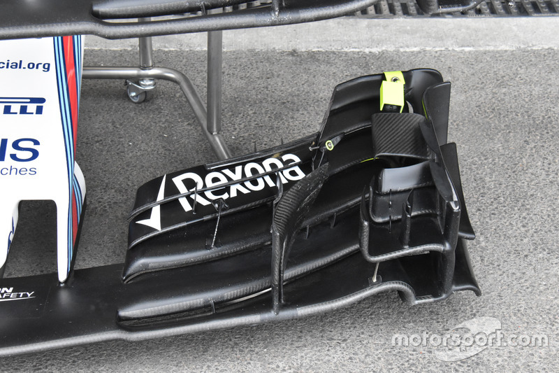 Williams FW40, front wing detail