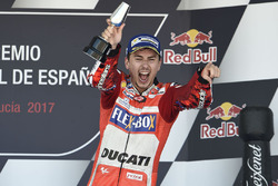 Podium: tercero, Jorge Lorenzo, Ducati Team