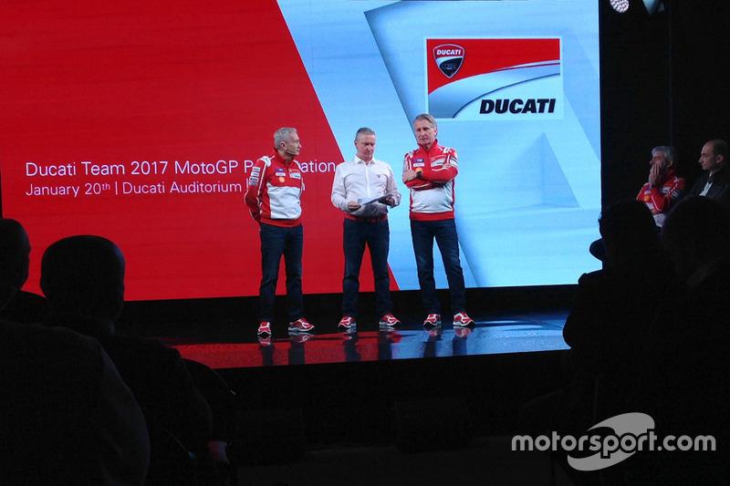 Davide Tardozzi, Ducati Team Team Principal de Ducati, Paolo Ciabatti, director deportivo de Ducati