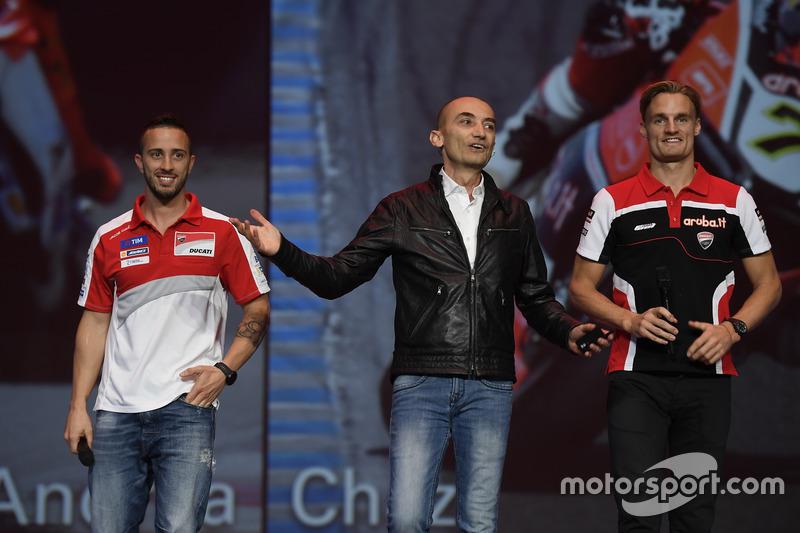 Andrea Dovizioso, Claudio Domenicali, Chaz Davies
