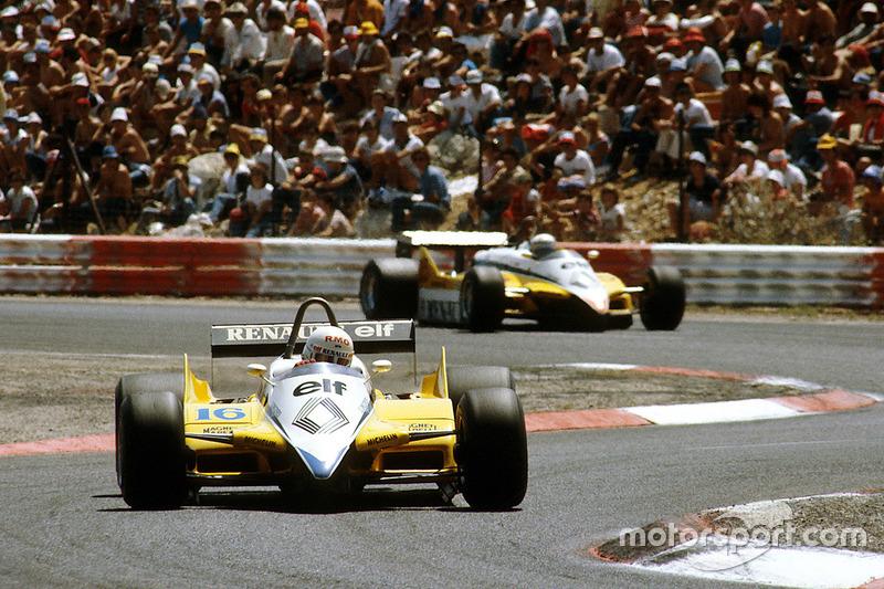 René Arnoux, Renault RE30B, Alain Prost, Renault RE30B