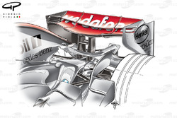 McLaren MP4-22 2007 Bahrain rear wing