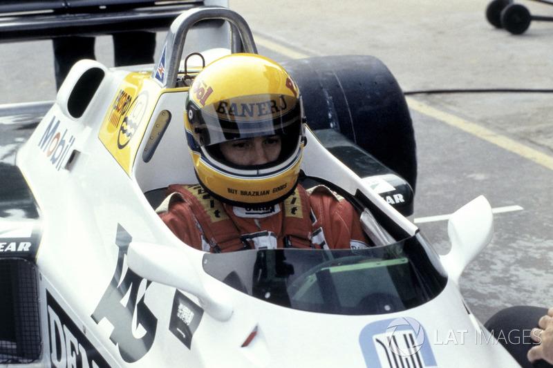 Ayrton Senna, test de Williams FW08C voor de eerste keer