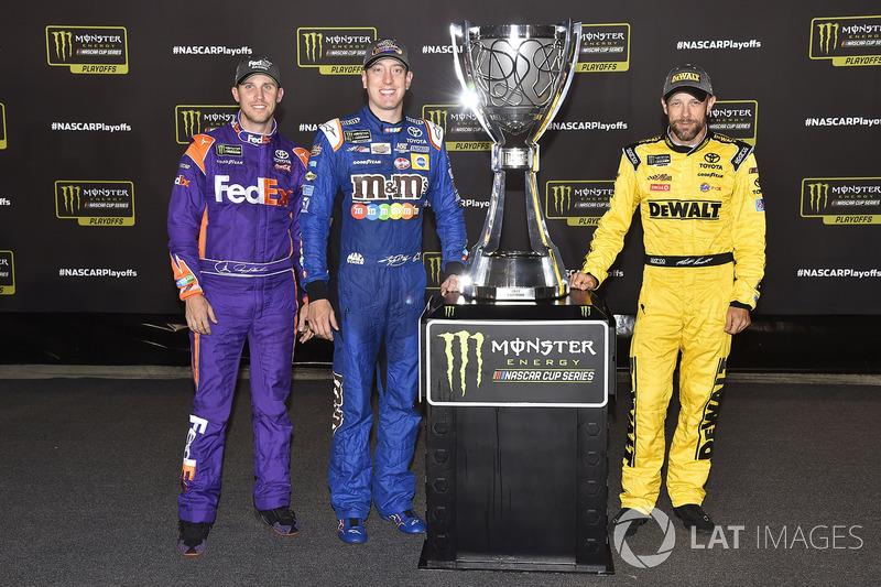 Playoff-Teilnehmer 2017 von Joe Gibbs Racing: Denny Hamlin, Kyle Busch, Matt Kenseth