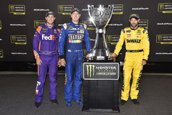 Denny Hamlin, Joe Gibbs Racing Toyota, Kyle Busch, Joe Gibbs Racing Toyota, Matt Kenseth, Joe Gibbs Racing Toyota