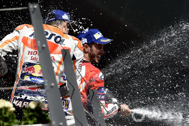 Podium: Marc Marquez, Repsol Honda Team, Andrea Dovizioso, Ducati Team