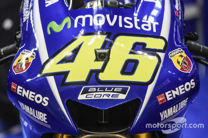 Detail: Bike von Valentino Rossi, Yamaha Factory Racing